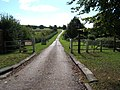 Entrance to private road leading across Leatherhead Downs to Cherkley Court - geograph.org.uk - 60233.jpg
