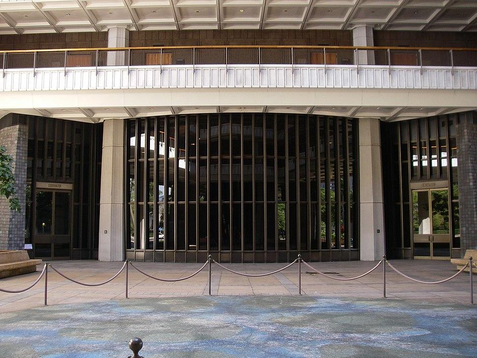 Entrance to the Hawaii State Senate chamber, USA