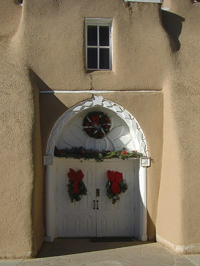 Entry, San Francisco de Assisi Mission, Ranchos de Taos.jpg