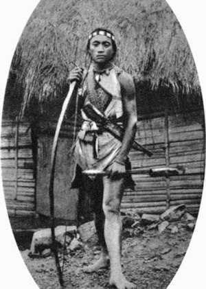 Thao people - Thao/Ngan young man of Sun Moon Lake, Nantou, Taiwan ca 1904