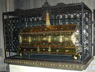 Eric IX of Sweden - Silver-gilt reliquary of Eric the Saint, Uppsala Cathedral.