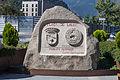 Escultura na praza de Lalín. Escaldes-Engordany (Andorra), cidade irmandada con Lalín, Galiza. 47.jpg