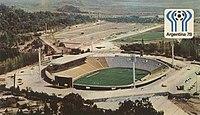 Estadio Malvinas Argentinas en 1978