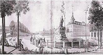 Paseo del Prado - Paseo del Prado with Palacio de los Alcañices