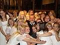 Estonian TV Girls' Choir with conductor Urmas Sisask at St Paul's cathedral in London.jpg