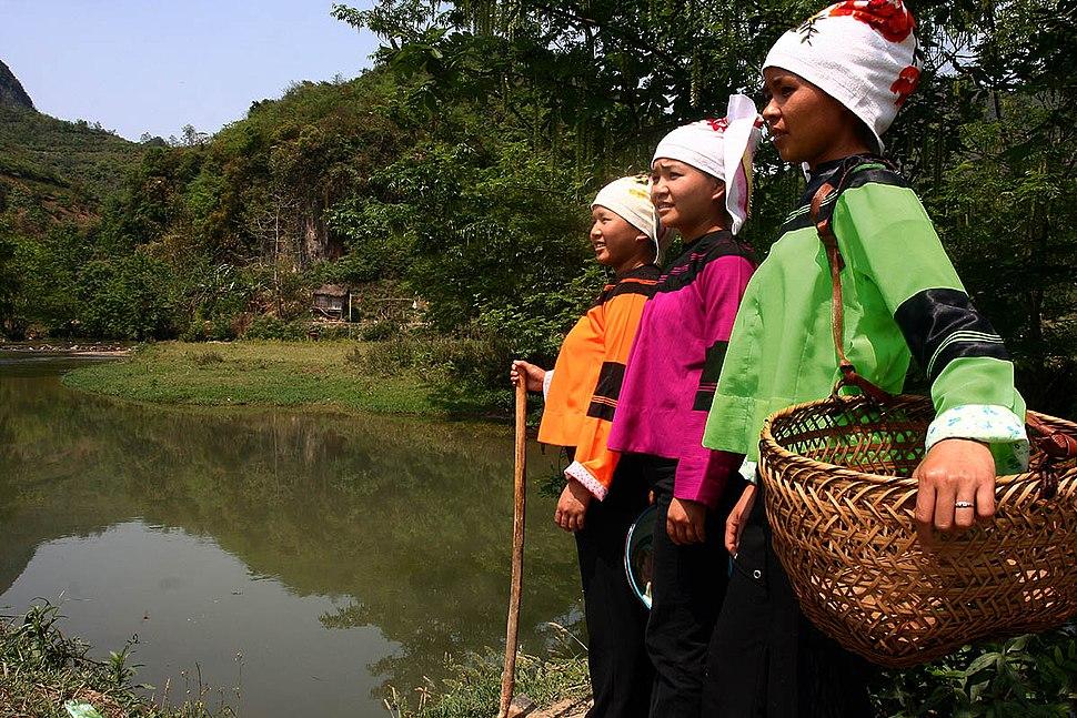 Ethnic Zhuang Costumes Guangnan Yunnan China