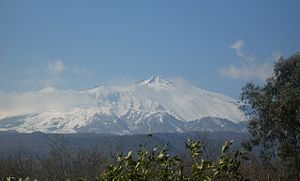 Geology of Sicily - Photo of Mount Etna. Work of Jeanne boleyn.