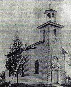 The original St Philip's Anglican Church