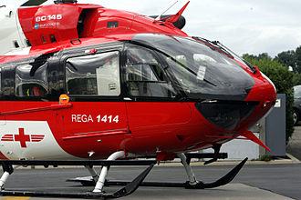 Eurocopter EC145 - External view of the forward cabin