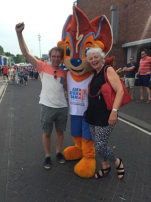 2016 European Athletics Championships - Supporters with the mascot