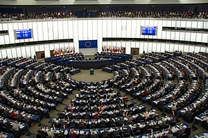 Seat of the European Parliament in Strasbourg - The hemicycle