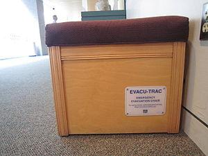 Emergency response (museum) - Image: Evacu Trac Bench