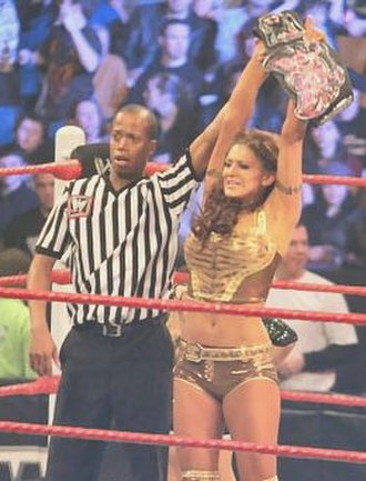 Eve Torres - Torres after winning the WWE Divas Championship for the second time at the 2011 Royal Rumble