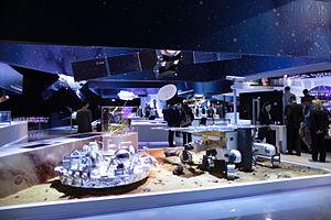Schiaparelli EDM lander - Models of Schiaparelli and the ExoMars rover at ESA ESTEC, 2014