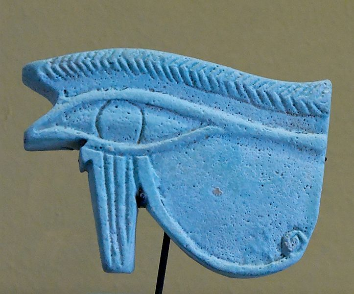 Earthenware Eye of Horus Amulet