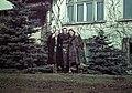 Férfi és két nő a Székesfővárosi tisztviselők üdülőtelepén. Fortepan 12313.jpg