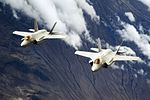 F-35A Lightning II aircraft fly in formation after refueling above the Utah Test and Training Range, March 30, 2017.jpg