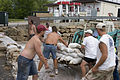 FEMA - 37071 - Volunteers deploy sand bags in Wisconsin.jpg
