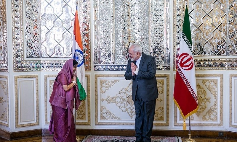 FM Javad Zarif meeting with Indian Foreign Minister Sushma Swaraj 02
