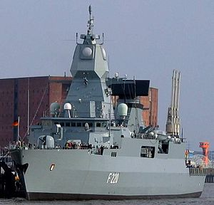 SMART-L - F220 Hamburg of the German Navy with SMART-L radar