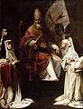 Fabrizio Santafede el papa Clemente VIII bendice a las monjas carmelitas.jpg