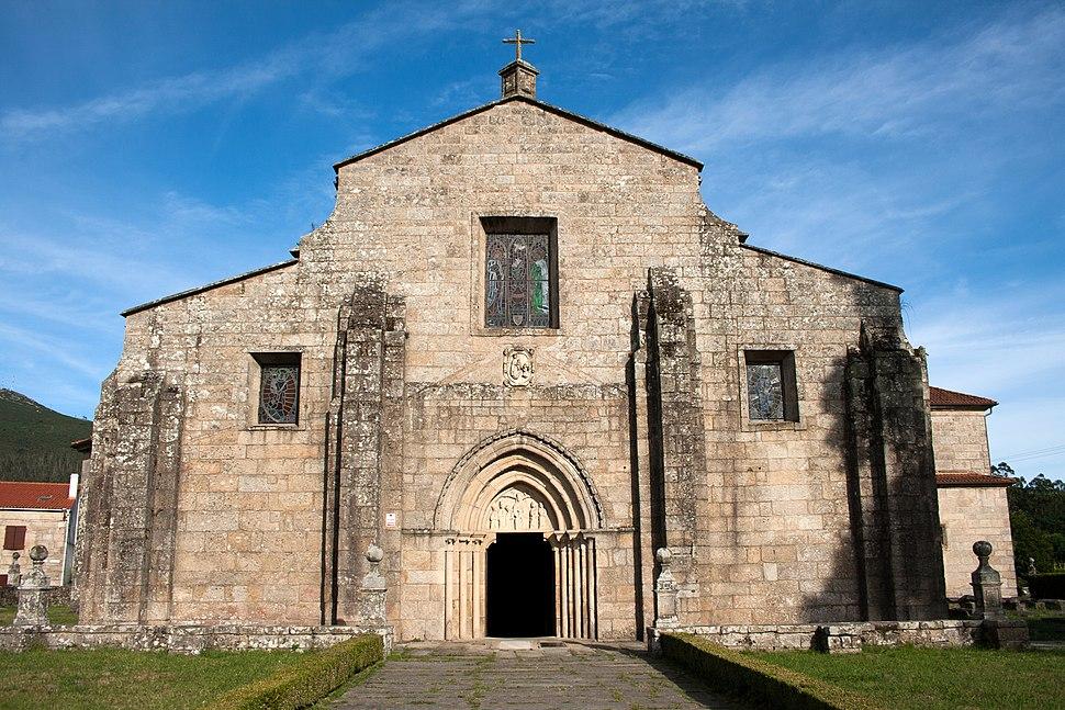 Facade of Saint Mary Church in Iria Flavia, Padrón, Galicia, Spain