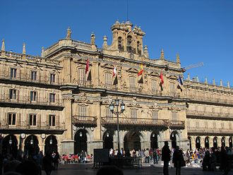 Churrigueresque - Plaza Mayor of Salamanca (1729-1755).