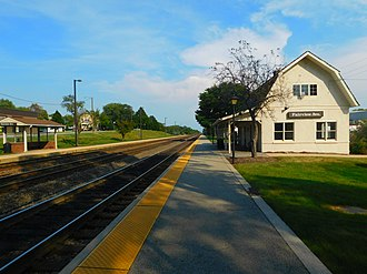 Fairview Avenue station (Illinois) - The Fairview Avenue station in September 2016.