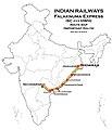 Falaknuma Express (SC - HWH) Route map.jpg