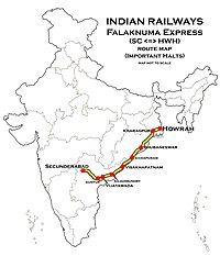 Falaknuma Express (SC - HWH) Route map.jpg