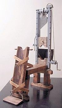 German Fallbeil of 1854, MunichHistoric replica 1:6 scale