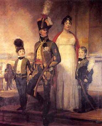 Domenico Pellegrini (painter) - Family portrait of Pedro de Almeida Portugal, 3rd Marquis of Alorna