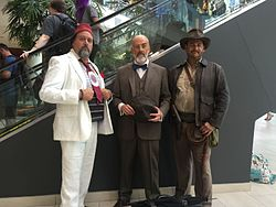 Cosplay of Indiana Jones and associated characters at Fan Expo Canada 2016  in Toronto. 212f0c806558