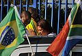 Fans at Brazil national football team training at Randburg High School 2010-06-06 3.jpg