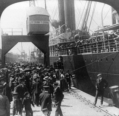 Utvandrare, Göteborg 1905