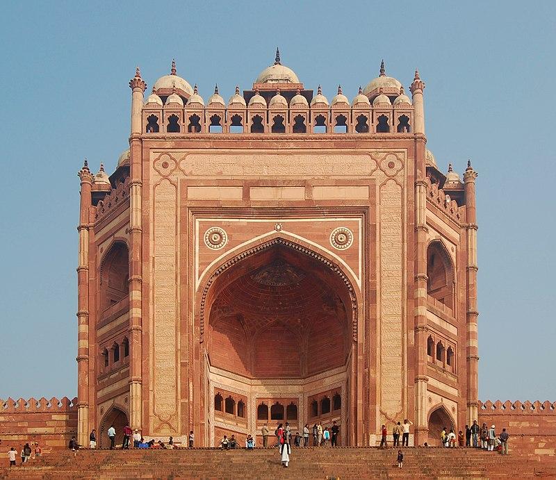 Buland Darwaza in Fatehpur Sikri built by Third Mughal Emperor Abu'l-Fath Jalal-Ud-Din Muhammad Akbar
