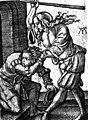 Femme battant mari Durer XVII e siecle.jpg