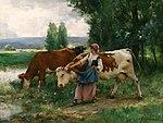 Femme et vaches par l'eau Julien Dupré.jpg