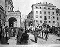 Ferraguti, Arnaldo (Ferrara 1862- Forlì 1925), Carnevalone di Milano - Il corso del sabato grasso - Illustrazione Italiana,1893.jpg