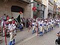 Festa Major d'Igualada 2014 - 03 Cercavila de trasllat de Sant Bartomeu. Ball de Pastorets d'Igualada.JPG