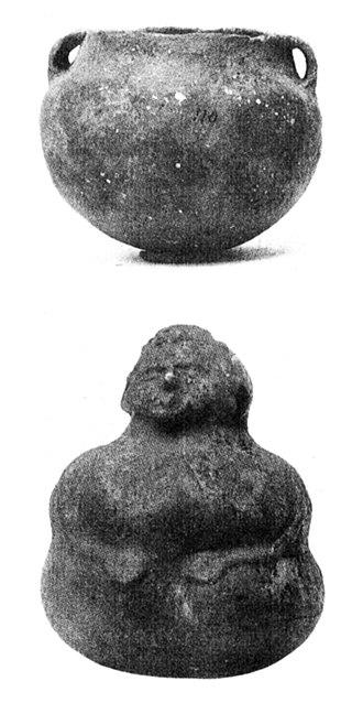 Fewkes Group Archaeological Site - Pottery found in Mound No. 2, in the 1920 excavation