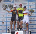 Final podium Thuringen Rundfahrt 2014.jpg
