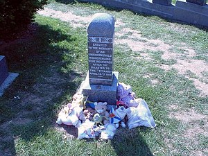 Sidney Leslie Goodwin - The grave is usually covered with stuffed animals and children's toys.