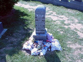 The Unknown Child - The grave is usually covered with stuffed animals and children's toys.