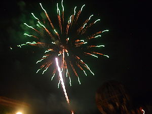 Italiano: Fuochi d'artificio a Vinci, FI, Ital...