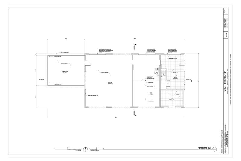 File first floor plan cedar city automotive repair shop for Mechanic shop flooring