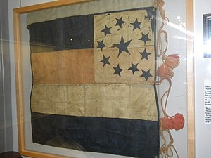 George R. Reeves - Original Flag of the Texas 11th Cavalry, Camp Reeves. Texas Civil War Museum, Ft. Worth, Texas