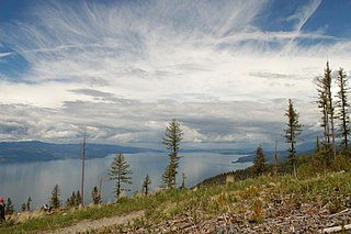 Flathead Lake moraine-dammed lake