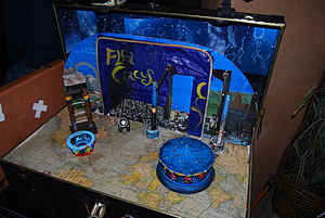 Flea circus - The flea circus of Maxfield Rubbish, San Diego, CA (2009)