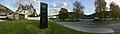 Fleischer's Hotel, Evangervegen E16, Vangsvatnet, Voss kulturhus, bibliotek, Voss, Norway 2016-10-25, cropped distorted panorama.jpg